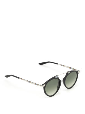 Bob Sdrunk: sunglasses - Mark black frame aviator sunglasses