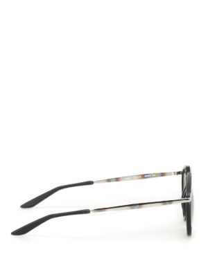 Bob Sdrunk: sunglasses online - Mark black frame aviator sunglasses