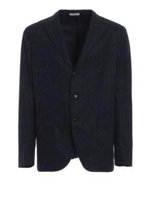 BOGLIOLI: giacche blazer - Blazer in Principe di Galles blu mélange