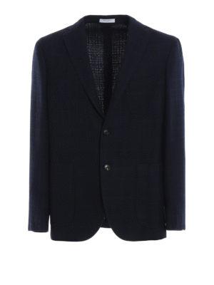 BOGLIOLI: giacche blazer - Giacca destrutturata in misto lana a quadri