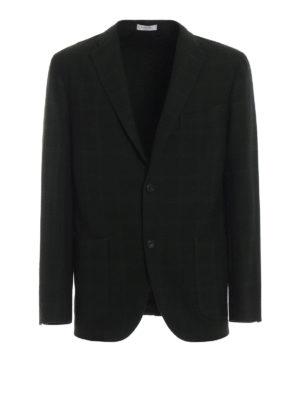 BOGLIOLI: giacche blazer - Blazer sfoderato in lana verdone scuro