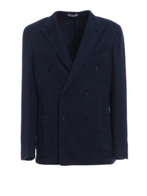 Boglioli: blazers - Double-breasted honeycomb blazer