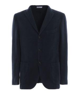 BOGLIOLI: giacche blazer - Giacca in rasatello di cotone spigato