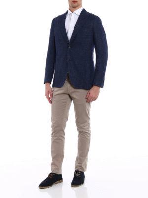 Boglioli: blazers online - Single-breasted unlined blue blazer