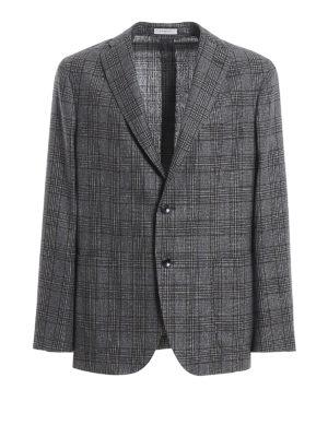 BOGLIOLI: blazers - Prince of Wales wool and silk blazer