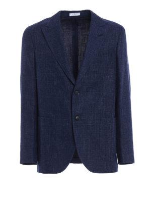 Boglioli: blazers - Single-breasted unlined blue blazer