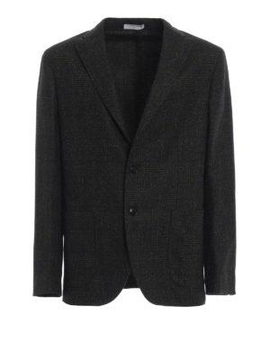 BOGLIOLI: giacche blazer - Blazer in Principe di Galles grigio verde