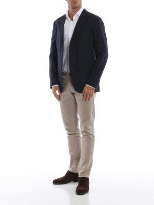BOGLIOLI: giacche blazer online - Blazer in Principe di Galles blu mélange