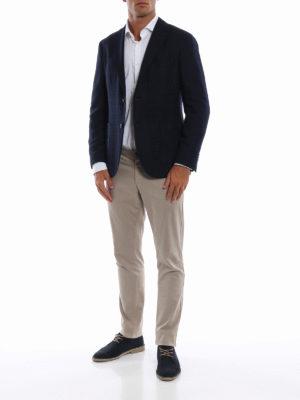 BOGLIOLI: giacche blazer online - Giacca destrutturata in misto lana a quadri