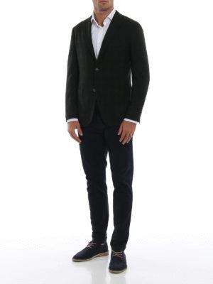 BOGLIOLI: giacche blazer online - Blazer sfoderato in lana verdone scuro