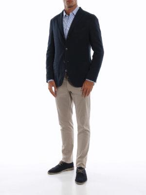 BOGLIOLI: giacche blazer online - Giacca in rasatello di cotone spigato