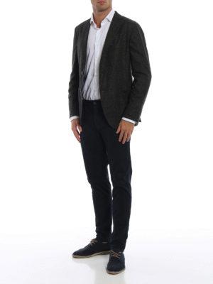BOGLIOLI: giacche blazer online - Blazer in Principe di Galles grigio verde