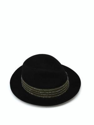 BORSALINO: cappelli - Cappello in feltro nero con gros grain