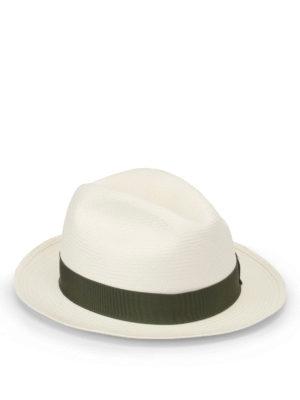 Borsalino: hats & caps - Green trimmed panama hat