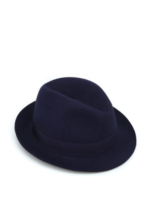 BORSALINO: cappelli - Cappello in feltro blu con nastro gros grain