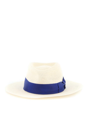 BORSALINO: hats & caps - Grosgrain band hemp hat