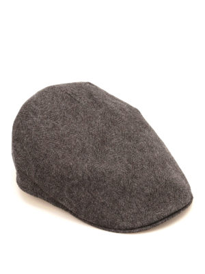 Borsalino: hats & caps - Herringbone wool blend hat