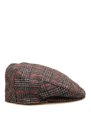 Borsalino: hats & caps online - Check virgin wool hat
