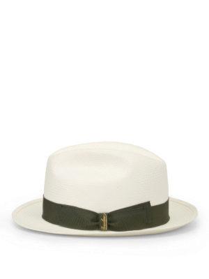 Borsalino: hats & caps online - Green trimmed panama hat