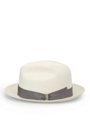 Borsalino: hats & caps online - Grey trimmed panama hat