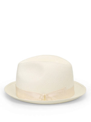 Borsalino: hats & caps online - Ivory trimmed panama hat