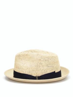 Borsalino: hats & caps online - Short brim semicrochet panama hat