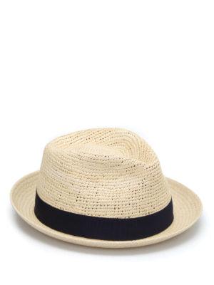Borsalino: hats & caps - Short brim semicrochet panama hat