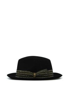 BORSALINO: cappelli online - Cappello in feltro nero con gros grain