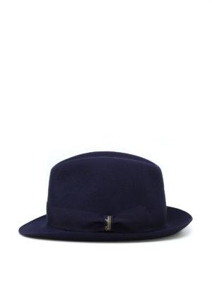 BORSALINO: cappelli online - Cappello in feltro blu con nastro gros grain