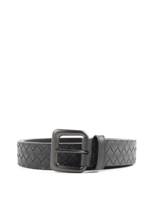 Bottega Veneta: belts - Soft nappa leather belt