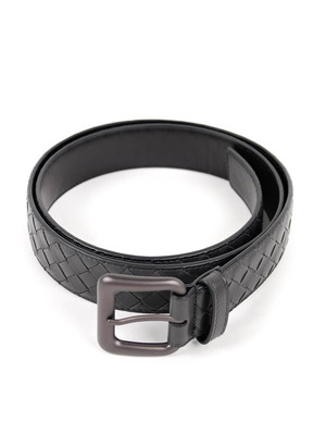 Bottega Veneta: belts - Woven leather belt