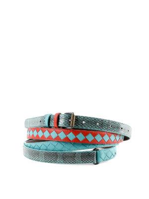 BOTTEGA VENETA: cinture - Cintura a doppio giro in nappa intrecciata
