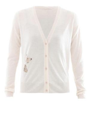 Bottega Veneta: cardigans - Butterfly cashmere silk cardigan