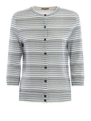 Bottega Veneta: cardigans - Jacquard silk blend  cardigan