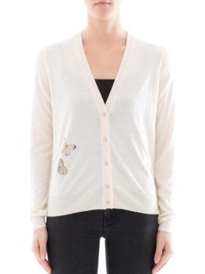 Bottega Veneta: cardigans online - Butterfly cashmere silk cardigan