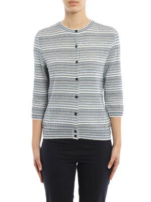 Bottega Veneta: cardigans online - Jacquard silk blend  cardigan