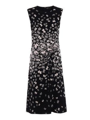 Bottega Veneta: cocktail dresses - Butterflies pattern crepe dress