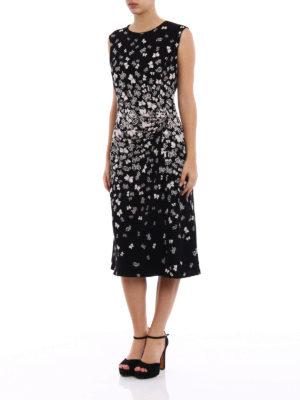 Bottega Veneta: cocktail dresses online - Butterflies pattern crepe dress