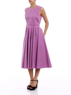 Bottega Veneta: cocktail dresses online - Studded cotton flared dress
