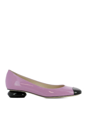 Bottega Veneta: court shoes - Bette lilac patent leather pumps