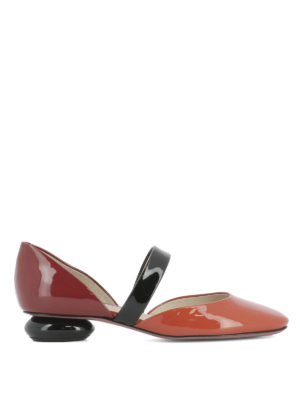 Bottega Veneta: court shoes - Bette patent leather low pumps