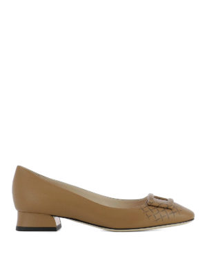 Bottega Veneta: court shoes - Cherbourg napa leather pumps