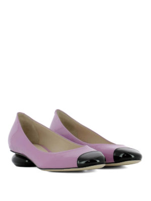 Bottega Veneta: court shoes online - Bette lilac patent leather pumps