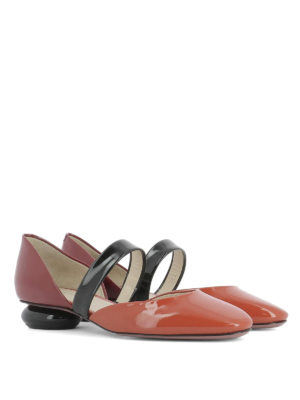 Bottega Veneta: court shoes online - Bette patent leather low pumps