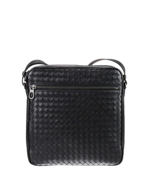 Bottega Veneta: cross body bags - Intrecciato leather crossbody