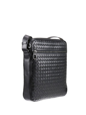 Bottega Veneta: cross body bags online - Intrecciato leather crossbody