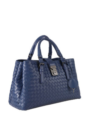 Bottega Veneta: cross body bags online - Roma Intrecciato mini bag