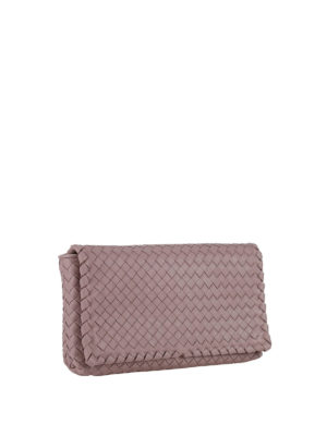 Bottega Veneta: cross body bags online - Woven leather cross body bag
