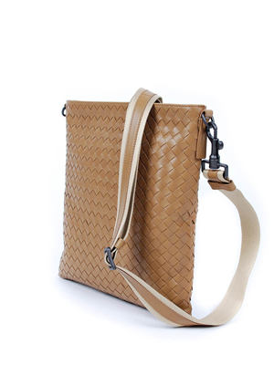 Bottega Veneta: cross body bags online - Woven messenger bag