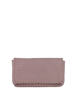 Bottega Veneta: cross body bags - Woven leather cross body bag